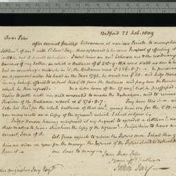 Document, 1809 February 22
