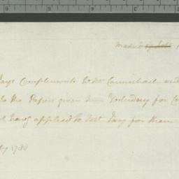 Document, 1780 July 18