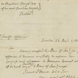 Document, 1784 December 22 -28