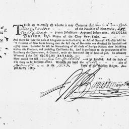 Document, 1687 September 5
