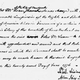 Document, 1776 June 22