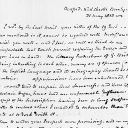 Document, 1813 May 31